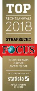 Focus Top Rechtsanwalt 2018